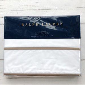 Ralph Lauren Marylebone Berks Queen Flat Sheet
